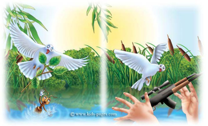 कम ल र चर न प कथ Bird And Ant Story In Nepali The Dove Story For Kids