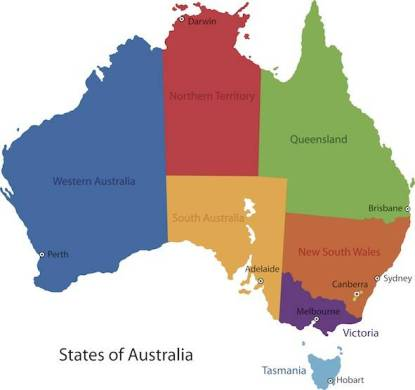 Australia Facts for Kids   Facts for Kids   Geography   Animals Australia Map