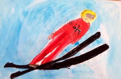 Olympic Ski Jump Painting