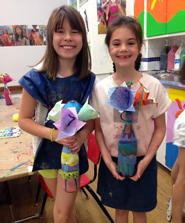 kids flower vase art project