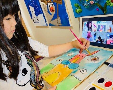 Online kids' art