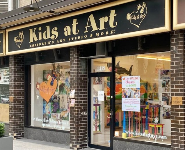 Kids at Art Storefront