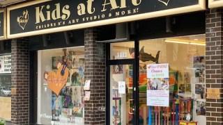 Kids at Art Storefront