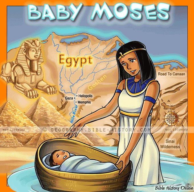 Story Of The Baby Moses Kids Bible Maps