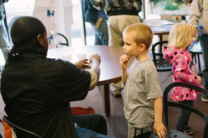 Face painting never fails to be popular.