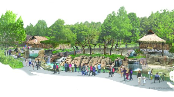 Architectural rendering of the Pittsburgh Zoo's newest exhibit, The Islands