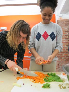Youth cook workshop at the Children's Museum, Photo courtesy of the Children's Museum of Pittsburgh