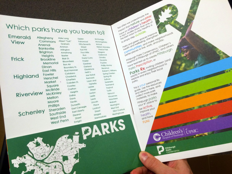 Custom-designed materials for each child participating in Pittsburgh Parks Rx. Photo courtesy Pittsburgh Parks Conservancy.