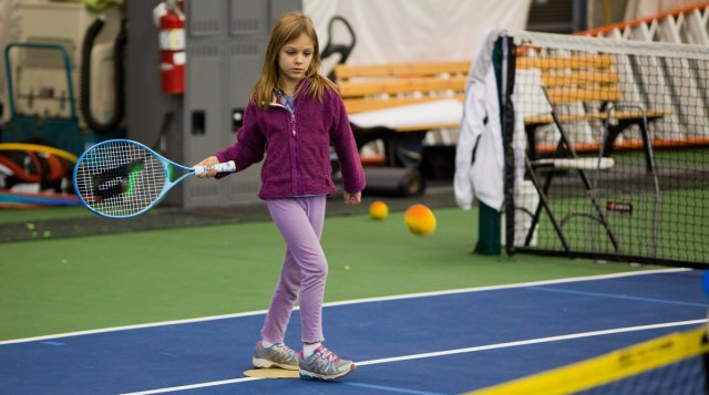 Five indoor tennis courts at Mellon Park offer clinics for kids through the winter.