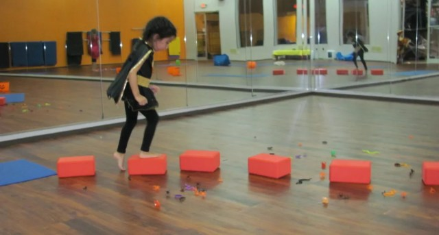 Kid-friendly yoga play at Yoga Monsters.