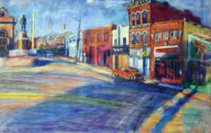 """Wilson's BBQ"" by William Phfal, is part of the Pittsburgh Public Schools collection donated by The Friends of Art"