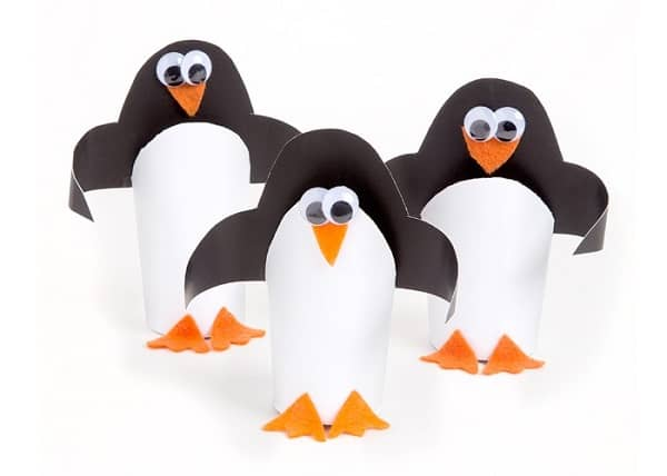 Maker Monday: Cardboard Tube Penguins