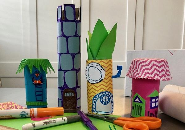 Maker Monday: Cardboard Tube Houses
