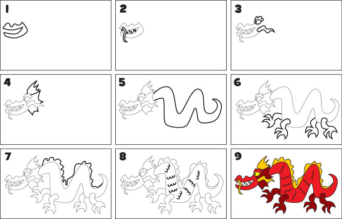 How To Draw A Chinese Dragon Kid Scoop