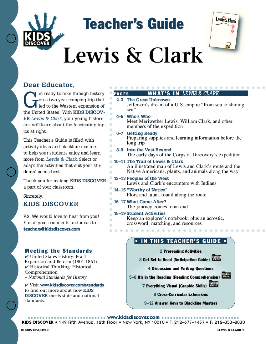 Lewis And Clark Kids Discover