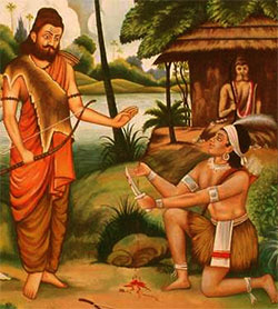 Image result for eklavya and dronacharya