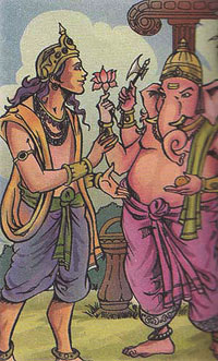 Kartikeya and Ganesha
