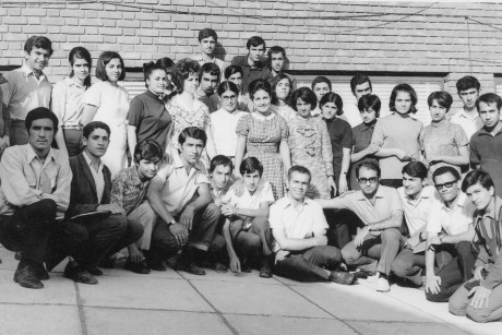 Baha'i young men and women in 1969 in Iran serving and learning together as two wings of a bird
