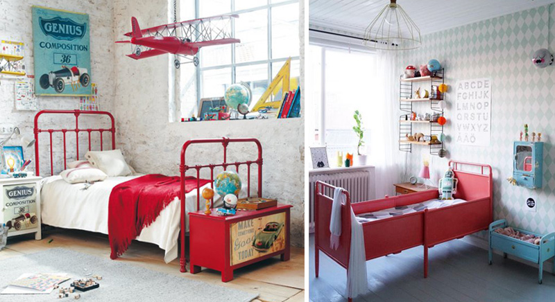 tips on using red in boysrooms by