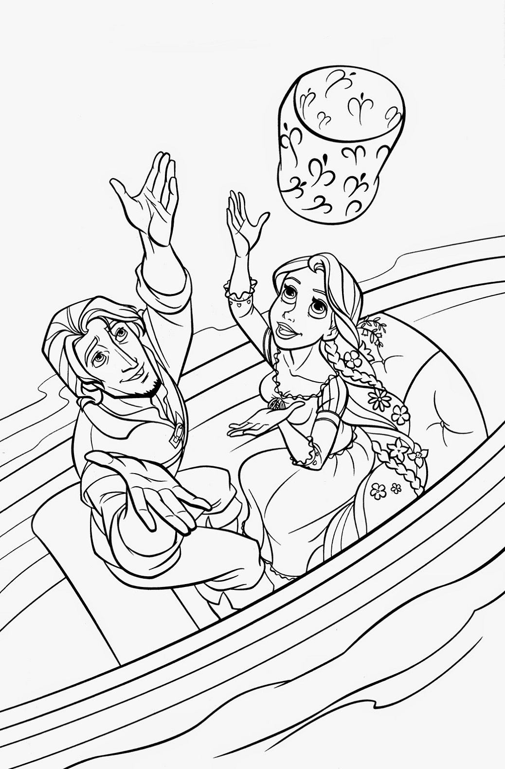 Tangled Coloring Pages Printables