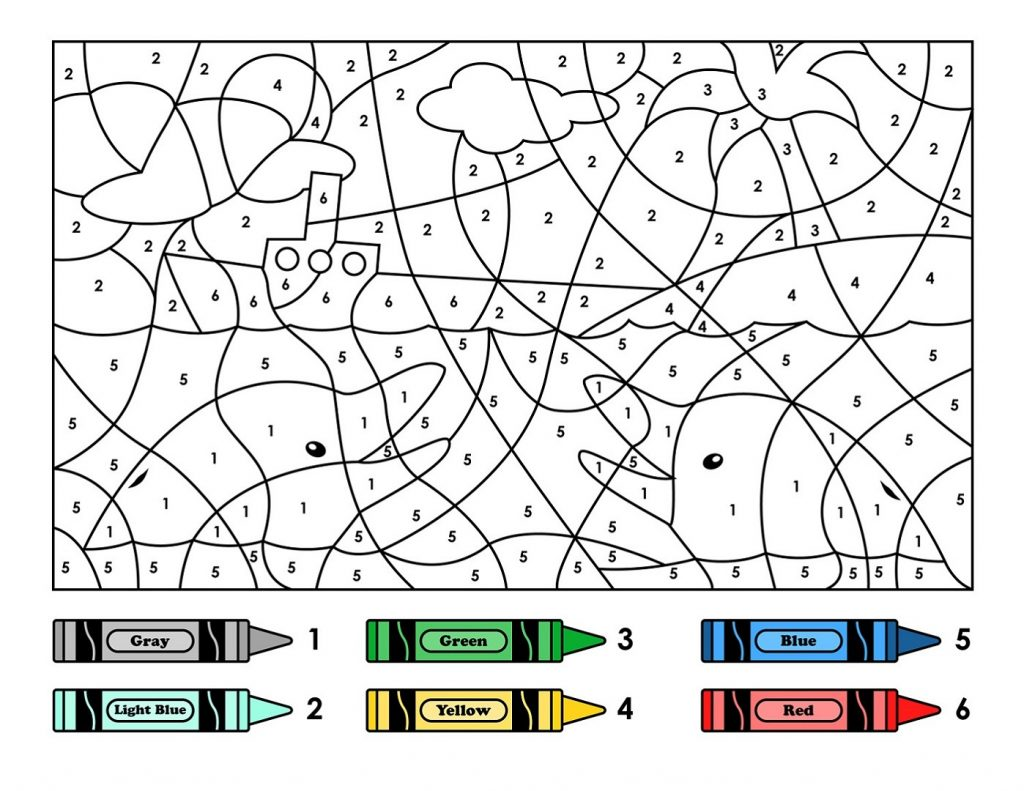 Color By Number Printables Kids Learning Activity