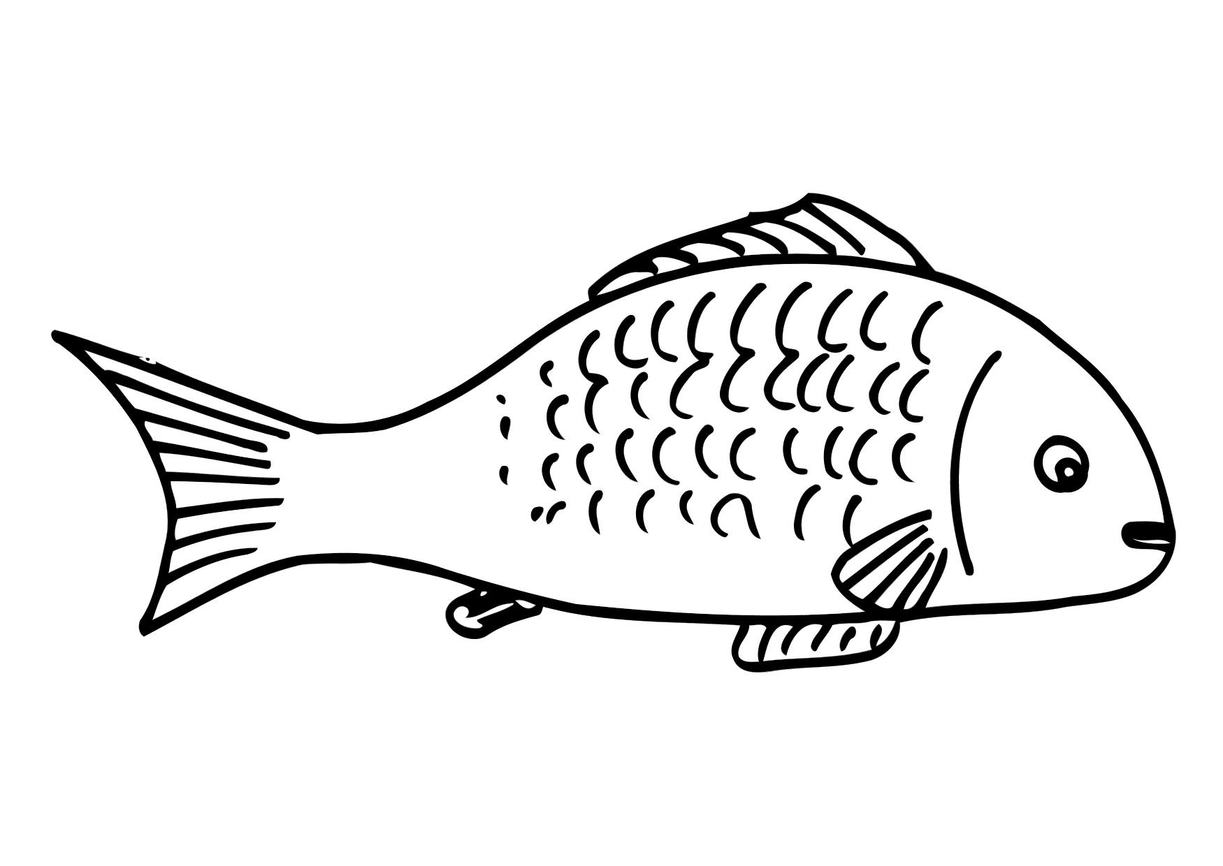 Fish Coloring Pages For Toddler