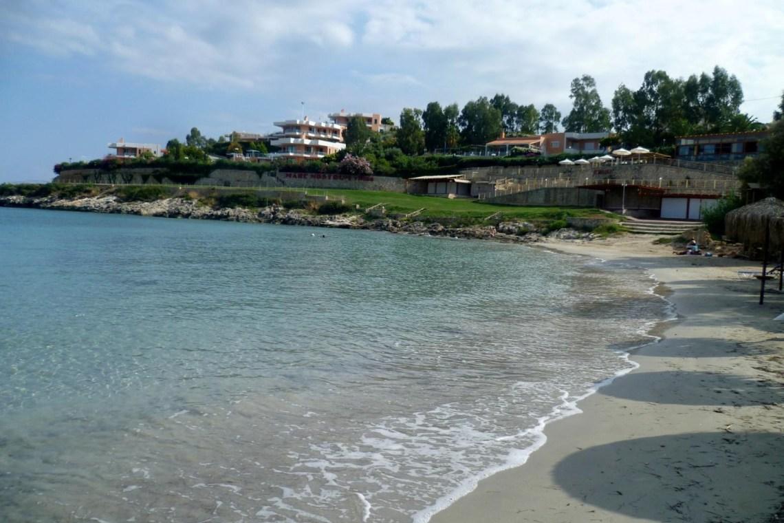 Loutraki beach Acrotiri Chania KidsLoveGreece.com