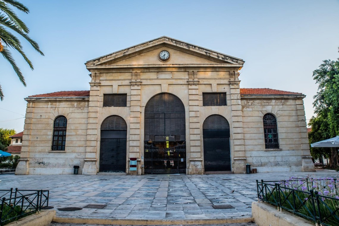 indoor market building Chania town