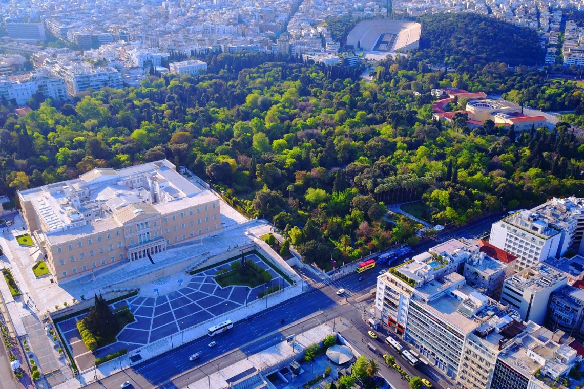 Greek Parliament aerial