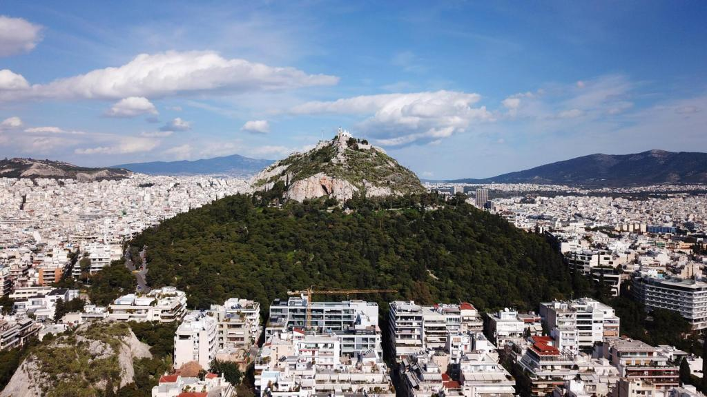 Lycabetus hill over Athens