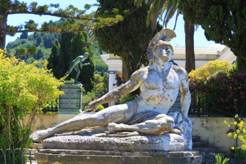Achilleion Corfu Achilles statue