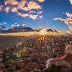 Arachova village sunrise