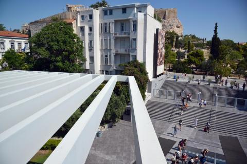 Acropolia museum entrance Athens KidsLoveGreece.com