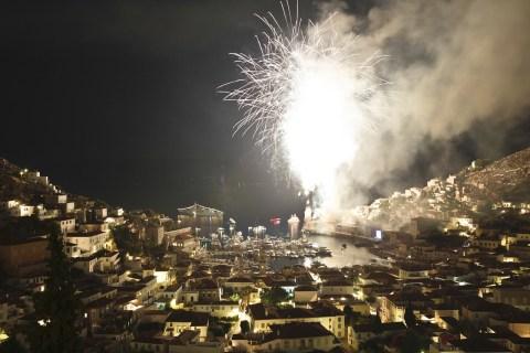Miaoulia celebration Hydra june