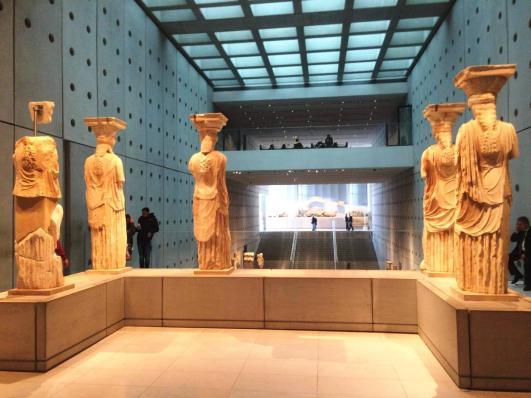 Acropolis museum karyatides statues