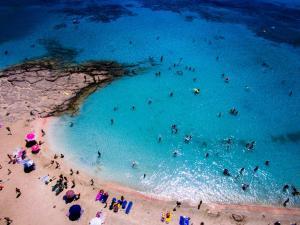 Elafonisi beach drone view