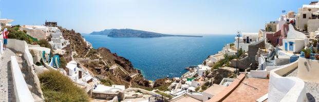 Santorini 180 degrees view