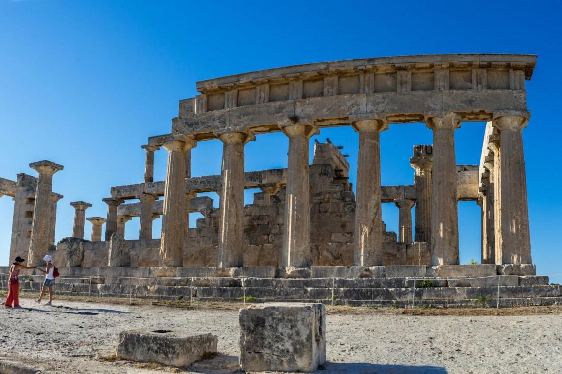 Aigina island archeological site