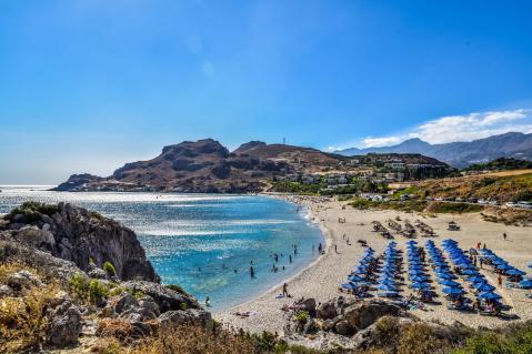 Damnoni beach south of Rethymno
