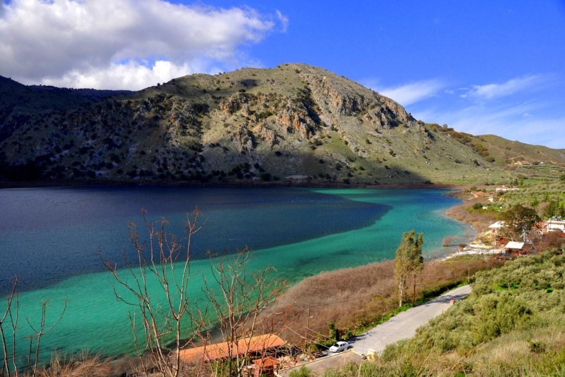 Kounas lake Chania Crete family tour KidsLoveGreece.com