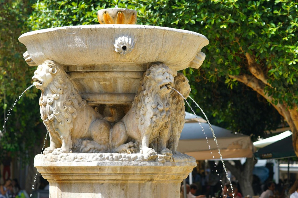 Morozini fountain in centre of Heraklion