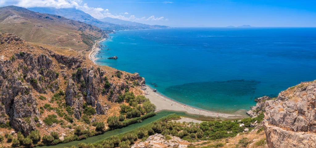 Preveli river and beach south of Rethymno