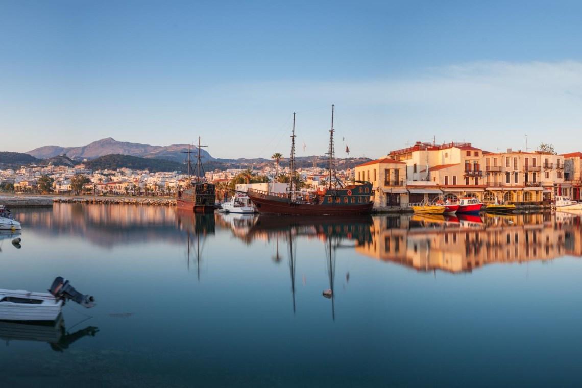 Venetian port of Rethymno