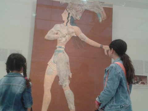 kids in archelogical museum of Heraklion