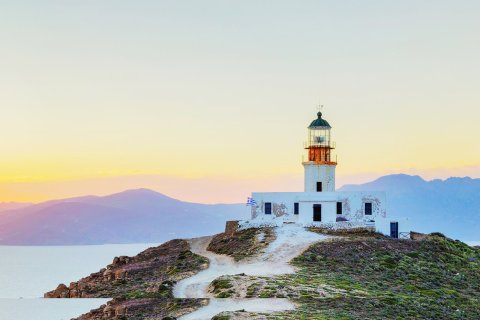 Armenistis lighthouse in Mykonos