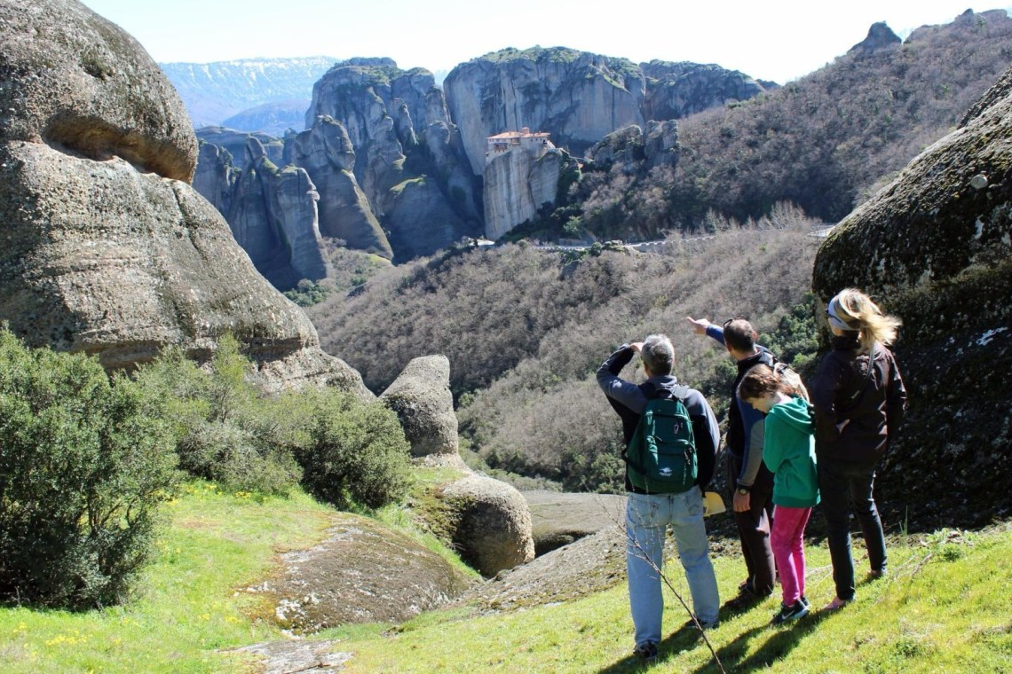 meteora family hiking tour Greece kidslovegreece locals experts group thessaly