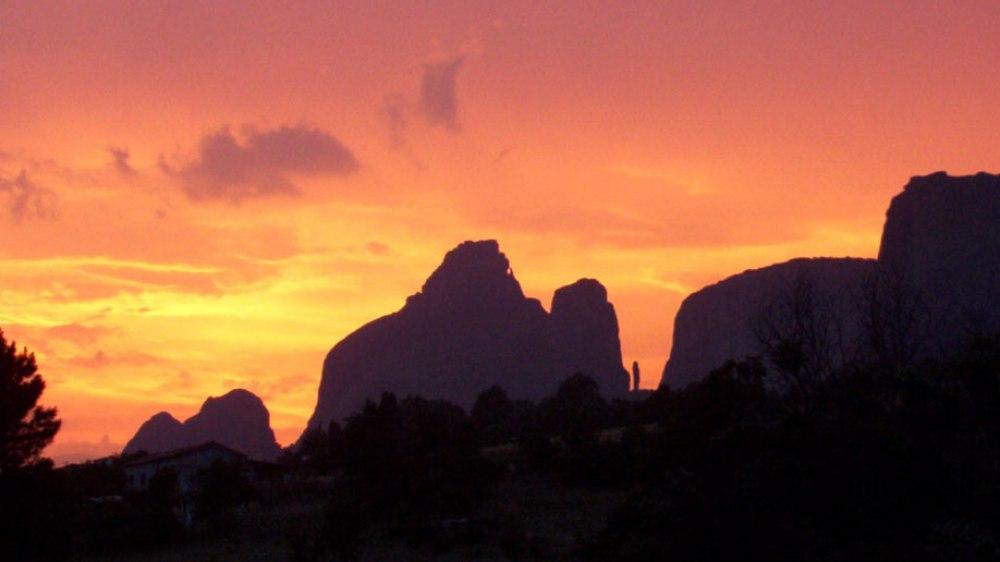 Ηλιοβασίλεμα στα Μετέωρα