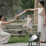 ancient Olympia ceremony light of the olympic flame