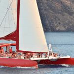 family sailing day tour Santorini kids love greece barbeque on board Ammoudi