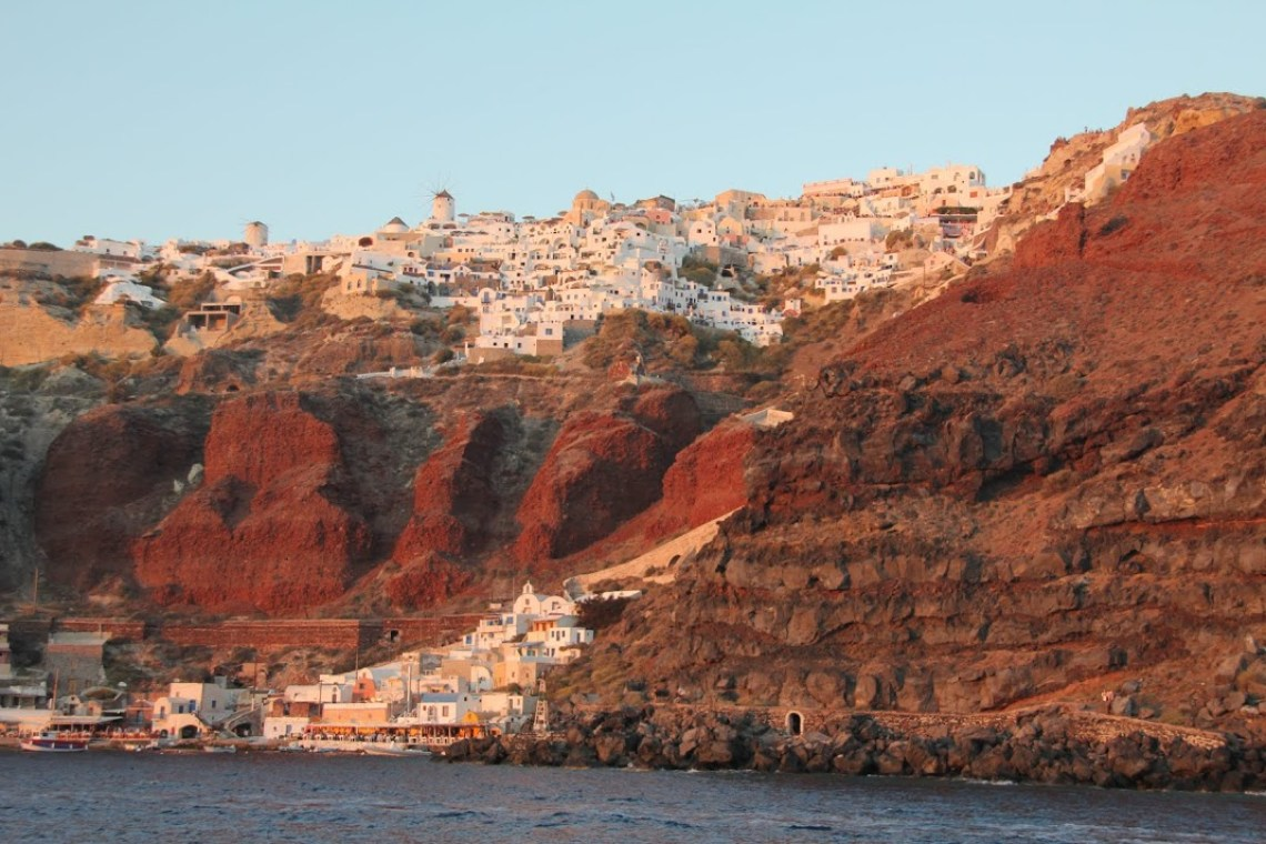 santorini sailing family sunset tour kids love greece